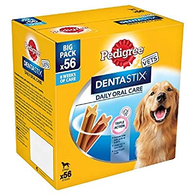 Pedigree Dentastix Daily Oral Care Dental Chews, Large Dog 56 Sticks, Pack of 1 by Mars s.p.a.