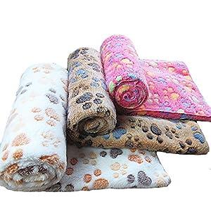 Allisandro Pet couvertures chien tapis de chenil blanket automne chaud et l'hiver corail velours épais couverture…