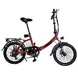 TOOCO ALU Elektrofahrrad FROUME 20' E-Bike Klapprad Faltrad Elektro Fahrrad 20 Zoll E Bike (Rot)