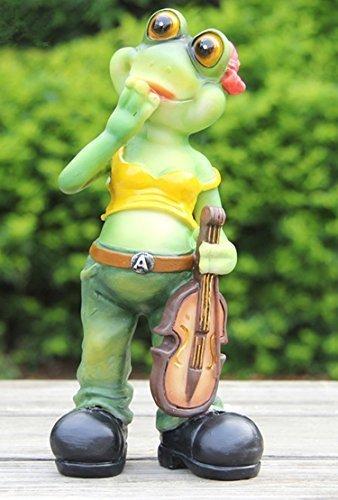 Design Frosch 20 cm Hoch 87019-3 Zwerg Deko Garten Gartenzwerg Figuren Dekoration