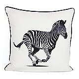 "Animal Zebra Print 100% algodón funda de cojín decorativo funda de almohada casa sofá decoración 18""x18"""