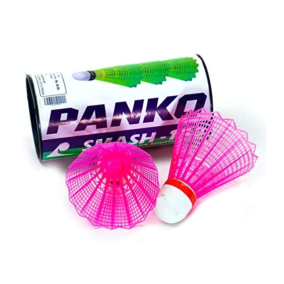 Panko Nylon Shuttlecock -Smash 150 (Pink) -2 Pieces