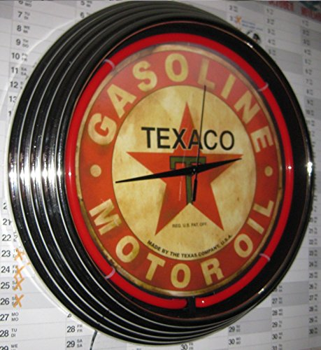 neonuhr-texaco-gasoline-motor-oil-neon-rot-werkstatt-wanduhr-neonreklame-usa-50s-style