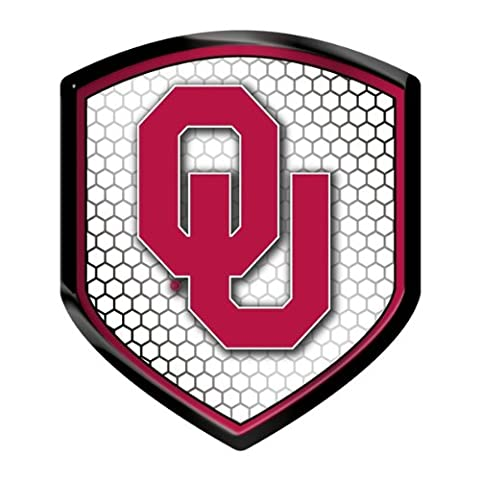 Officially Licensed NCAA Shield Reflector Sticker - Oklahoma Sooners