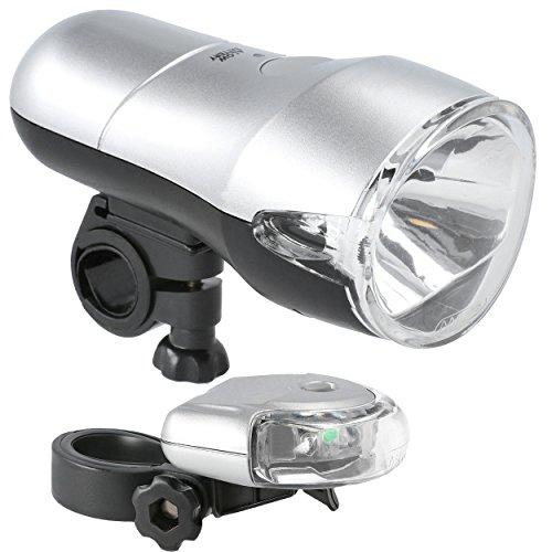 Oramics Fahrradlicht SET StVZO zugelassen, Rücklicht und Vorderlicht mit Befestigung für Fahrrad, Kinderwagen und Rucksack, Fahrradlampenset Batteriebetrieben