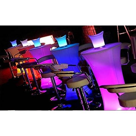 Gowe LED iluminado MESA cóctel cuadrada para estación de café/Fiesta/Bar/Hotel mesa de café Creative LED pequeña luz de Pretty en la cintura