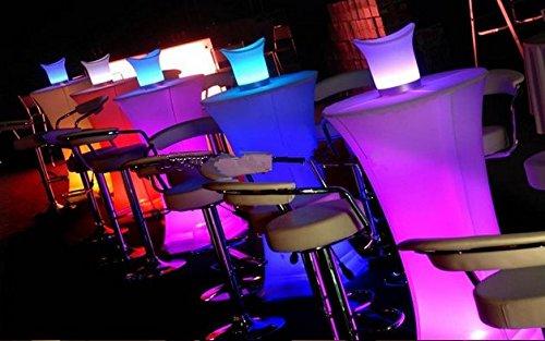 Gowe lumineux LED carré Table de cocktail pour station de café/fête/hôtel/bar Creative Table basse LED Petite Jolie Taille lumière