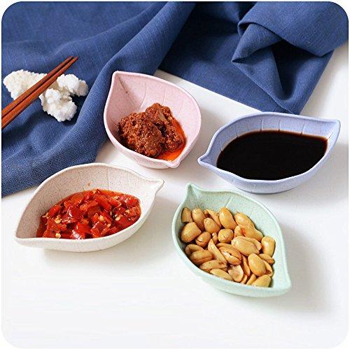 irr Set Vorspeise Teller Japanische Essig Spice Salat Soja-Soße Sushi Wasabi Dip-Schalen, Service für 4 (Kleine Vorspeisen-teller)