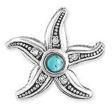 Thomas Sabo Damen-Ohrstecker 925 Silber Diamant (1 ct) weiß Türkis - D_H0005-357-17
