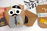 Papierdrachen DIY Adventskalender Set zum Befüllen - Weihnachtseulen Schwarz-weiß mit zusätzlicher Dekoration - Eulen Weihnachten - zum Basteln - zum selber Füllen - für Kinder - 5