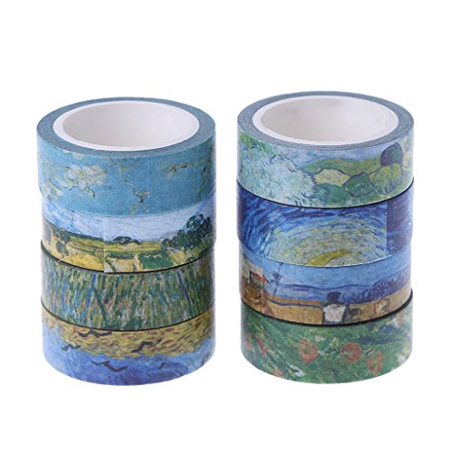 rei Van Gogh Farbserie Klebeband Scrapbooking Aufkleber Decor ()