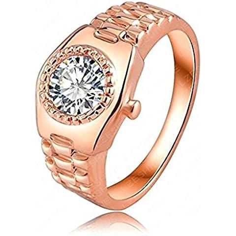 Alimab Gioielli signore anelli di fidanzamento anelli di nozze le Donne amano orologio anelli oro placcati oro anelli