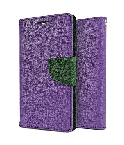 SCHOFIC Premium Fancy Wallet Diary Faux Leather Mobile Flip Case Cover [Pouch] with Card Slots [POCKETS] , Stand View and Magnetic Strap [LOCKING] for Samsung GALAXY Star Pro GT -S7262 -Purple  available at amazon for Rs.199