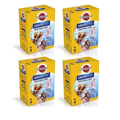 Pedigree Dentastix Snack per la Igiene Orale (Cane Grande +25 kg) 270 g 28 Pezzi - 4 Confezioni da 28 Pezzi (112 Pezzi totali)