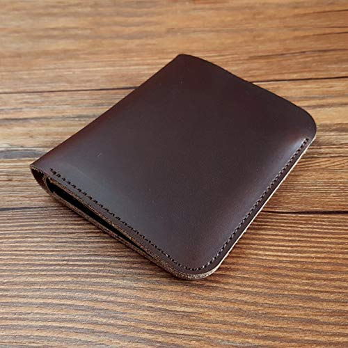 Classic Leather Classic Wallet (PDDH Brieftascheretro Classic Leather Wallet for Men Brown Minimalist Vertical Wallet Leather Western Wallet)