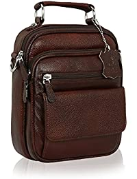 New HugMe.fashion Vintage Collection Leather Sling Bag In Brown SB69