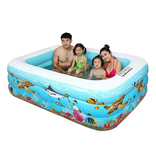 Pumpink Infant Kids Pool Aufblasbarer Verdickter Familien Pool Kinder Pool Ocean Pool Erwachsenen Sitzbadewannen Badewanne Badewannen Badewanne Becken Fass Fass Eimer Portable Faltbare Schwimmbad ( Größe : 305*175*66cm )