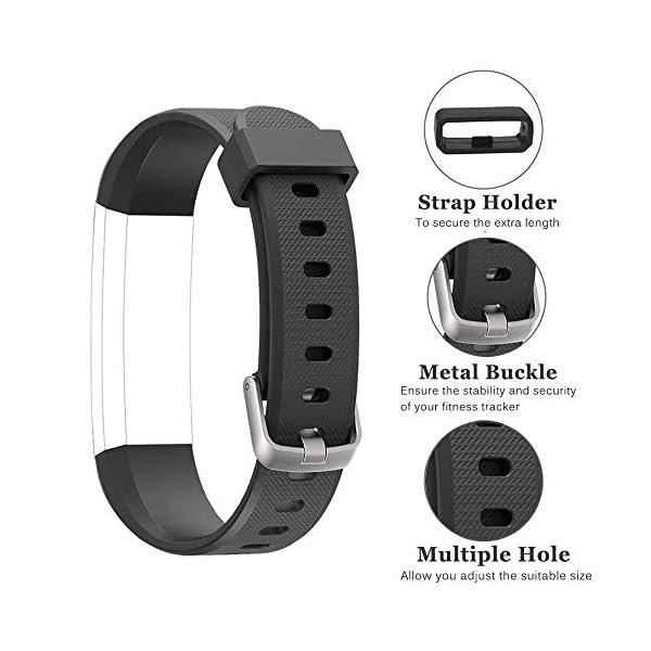 Rayfit Pulseras de Repuesto para Fitness Tracker Correa ID115U / Correa 115U / 115UU Smart Band Correa Repuesto de Reloj… 3