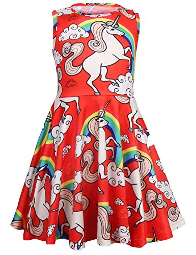 Little Hand Girls Dress Unicorn ...