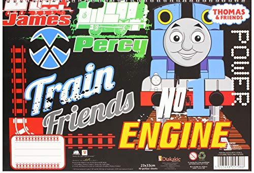 Diakakis 000570450 - Pegatinas para Pintar Thomas The Train 23X33 40Sh Stencil-2, 2 diseños, Multicolor