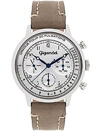 Gigandet G45-002 Herrn Armbanduhr, Lederband braun