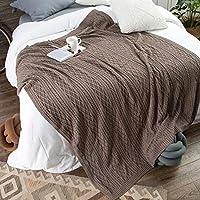 Amabubblezing Manta de Microfibra de Tiro de algodón BlanketWarm, relajación, Dormir más rápido y Mejor, Reducir el estrés y la ansiedad, Autismo, Idea como Regalo (Color : Ochre) - Muebles de Dormitorio precios