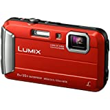 Panasonic DMC-FT30EG-R Lumix Digitalkamera (6,7 cm (2,6 Zoll) LCD-Display, CCD-Sensor, 16,1 Megapixel, 4-fach opt. Zoom, 220MB interne Speicher, USB, bis 8 m wasserdicht) rot