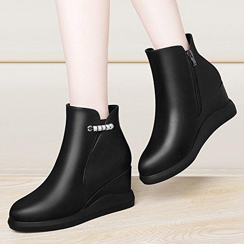 KHSKX-De Nouvelles Bottes D'Hiver Une Plate - Forme De Bottes Chaussures À Semelles Épaisses Bottes De Femelles De Martin Thirty-nine