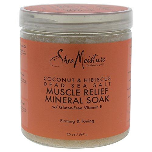 SHEA MOISTURE Coconut & Hibiscus Dead Sea Salt Muscle Relief Mineral Soak