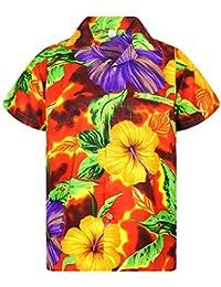 83c44d75b V.H.O. Funky Hawaiian Shirt   Men   XS-12XL   Short-Sleeve   Front-Pocket    Hawaiian-Print   Big Flower Summer   Multiple…