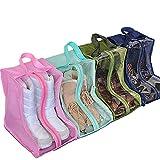 Sacs à chaussures de voyage, Sac à chaussures de voyage sac à poussière chaussure sac à chaussures étanche sac de rangement à couverture de chaussure, 4 pcs. pour bottes, talons hauts, sandales, etc.