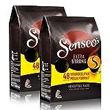 Senseo Kaffeepads Extra Dark / Extra Kräftig, Intensiver und Vollmundiger Geschmack, Kaffee, neues Design, 2er Pack, 2 x 48 Pads