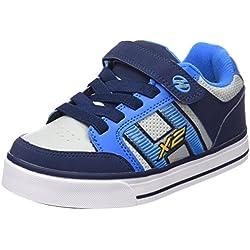 HEELYS Bolt Plus 770566 - Zapatos dos ruedas para niños, Navy/New Blue/Lunar Grey, 35 EU