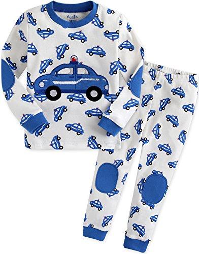 Vaenait baby Kinder Jungen Nachtwaesche Schlafanzug-Top Bottom 2 Stueck Set Blue Car M - Jungen 3 Stück Schlafanzüge