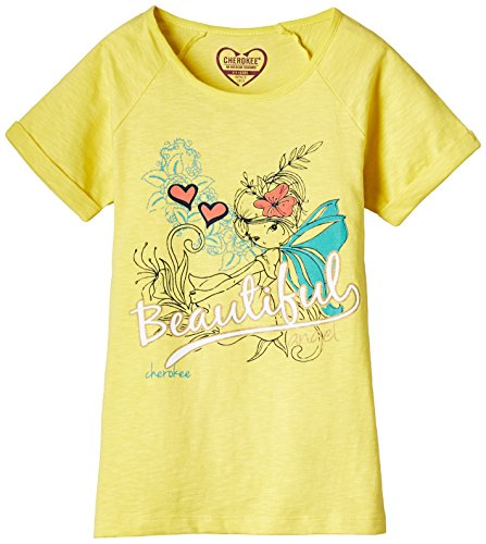 Cherokee Girls T-Shirt (256821646_Yellow_9 Years)  available at amazon for Rs.159