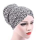 damen kopfbedeckung Bovake Frauen Muslim Stretch Turban Hut Chemo Cap Haarverlust Kopf Schal Wrap Hijib Cap (Colour B)