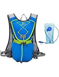 Junletu Mochila de Hidratación Paquete de Hidración Sistema de Hidratación para Maratón Ciclismo Running Excursionismo Subida - 2L Hidratación Incluido