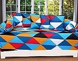 #7: Cotton 180 TC 8 Pc Multicolor Diwan Set-1 Single Bedsheet (60 x 90 Inch) 5 Cushion (16 x 16 Inch) 2 Bolcor (16 x 30 Inch)