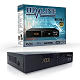 HD-LINE HDMI Receiver Satellit HD Digitaler Satelliten Receiver HDMI DVB S2 Receiver für Sat Receiver HD HDMI Sat Receiver HDMI HD Receiver Sat Digital für Satelliten Resiver für TV DVB-S, Schwarz