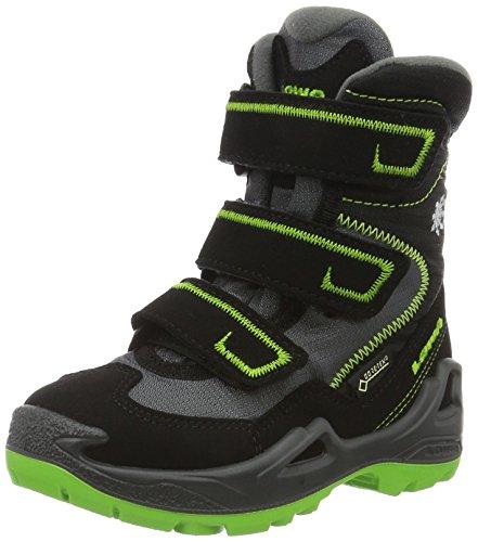 Lowa Unisex-Kinder Milo GTX HI JR Trekking- & Wanderstiefel, schwarz/Limone, 37 EU