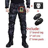 Pantaloni Shooting BDU militari da combattimento con ginocchiere Typhon Kryptek TYP per Airsoft Paintball., Typhon Kryptek, M