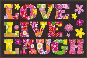 Eurographics AKTION-DT-RFI1532 Tapis de décoration Motif Love/Live/Laugh 50 x 80 cm