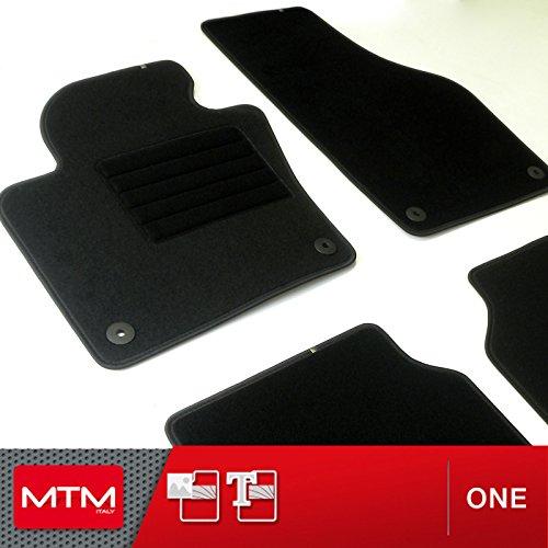 MDM Fussmatten Tiguan ab 07.2007- Passform wie Original aus Velours, Automatten mit Absatzschoner aus Textile, Rand rutschhemmender, cod. One 3781 2009 Vw Van