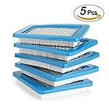 AGPTEK 5er Pack Luftfilter für Briggs Stratton Quantum 491588 491588 4915885 399959 Premium Dauerhafter Ersatzluftfilter Passend für Briggs Stratton