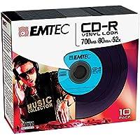 Emtec CD-R Vinyl Look CD-R 700MB 10pieza(s) - CD-RW vírgenes (CD-R, 700 MB, 10 pieza(s), 120 mm, 52x)