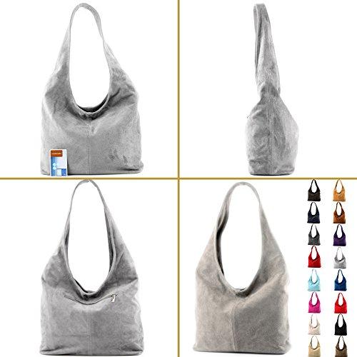 Borsa a mano borsa a tracolla shopping bag donna in vera pelle italiana T02 Gelb