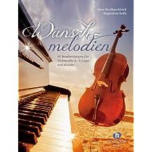 """Partituras de melodías para violonchelo y piano de Anne Terzibaschitsch - 40 transcripciones de melodías conocidas desde """"Para Elisa"""" hasta """"Yesterday"""""""