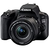 Canon EOS 200D S Cp 18-55mm Fotoğraf Makinesi, Full Hd (1080P), Siyah, 2 Yıl Canon Eurasia Garantili