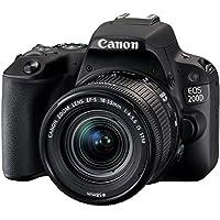 Canon EOS 200D Digitale Spiegelreflexkamera (24,2 Megapixel, 7,7 cm (3 Zoll) Display, APS-C CMOS-Sensor, WLAN mit NFC, Full-HD, DIGIC 7) schwarz inkl 18-55mm 1:4,0-5,6 IS STM Objektiv