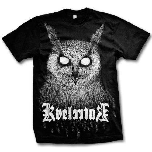 Kvelertak - Uomo Bartlett Owl T-Shirt T-Shirt, X-Large, Nero